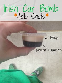 Irish Car Bomb Jello Shots: Perfect For St. Patrick's Day Festivities!