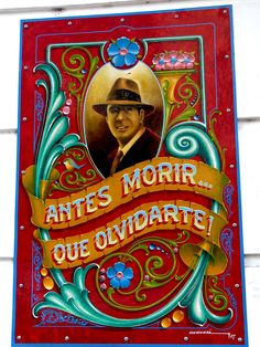 Fileteado Porteño - Antes morir que olvidarte