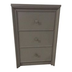 Martha Stewart Living Parrish 22.44 in. W x 18.19 in. D x 34.5 in. H 3-Drawer Small Side Unit in White