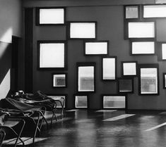 This inspired me to use mirrors instead of photos  ||| Housing Unit  Nantes-Rezé  Le Corbusier  1952-1954