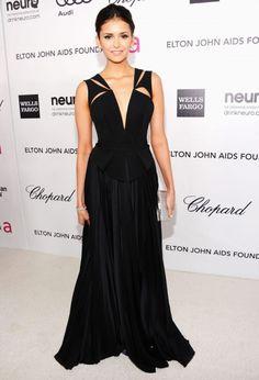 Nina Dobrev looking fantastic in black.