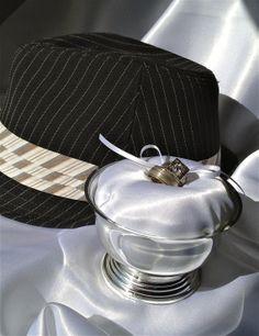 White & Silver Wedding Alternative Ring Bearer Pillow Goblet in CUSTOMIZABLE COLORS by JsWorldOfWonder, $18.00