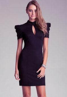 913ac219f03 bebe Kristie Pleated Sleeve Dress Date Night Fashion, Work Fashion, High  Fashion, Cute