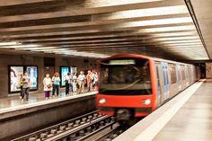 Valencia, Underground Tube, The Expanse, Europe, Train, Lighting, Train Station, Lisbon Portugal, World