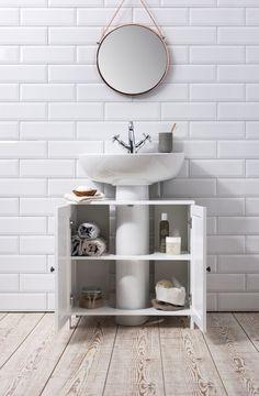 Stow Bathroom Sink Cabinet Undersink in White Noa Naniis free HD Wallpaper. Thanks for you visiting Stow Bathroom Sink Cabinet Under. Bathroom Sink Storage, Bathroom Sink Decor, White Bathroom Cabinets, Small Bathroom Sinks, Bathroom Furniture, Bathroom Interior, Rustic Furniture, Pedestal Sink Storage, Interior Paint