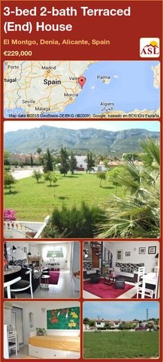 Terraced (End) House for Sale in El Montgo, Denia, Alicante, Spain with 4 bedrooms, 2 bathrooms - A Spanish Life Relaxing Holidays, Alicante Spain, Heat Pump, Private Garden, Living Room With Fireplace, Seville, Two Bedroom, Malaga, Second Floor