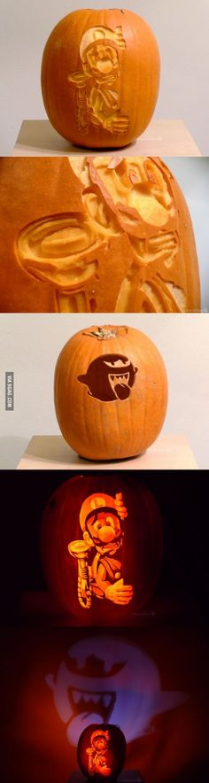Luigi's Mansion Jack-o-Lantern of Awesome