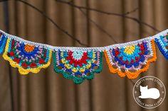 Crochet Bunting, Crochet Garland, Etsy Handmade, Handmade Items, Handmade Gifts, Nursery Bunting, Nursery Decor, Crochet Cord, Mobiles