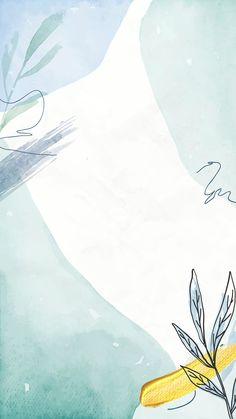 Blue watercolor floral background vector | premium image by rawpixel.com / Aum Watercolor Wallpaper, Pastel Wallpaper, Watercolor Pattern, Floral Watercolor Background, Painting Wallpaper, Cute Patterns Wallpaper, Background Patterns, Yellow Background, Vector Background