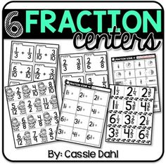 Try these engaging math centers to have your students practice fractions! The pack includes 6 centers (each with a recording sheet and answer key).