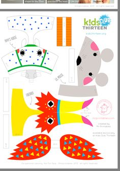 Diy For Kids, Crafts For Kids, Arts And Crafts, Paper Toys, Paper Crafts, Decoration Creche, Paper Box Template, Puppets For Kids, Animals For Kids