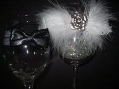 Black Tie Affair Wine Garter Duo by SavvyEmbellishments on Etsy, $19.95