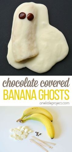 These chocolate covered banana ghosts are so cute and taste SO good! Such a fun and kid friendly Halloween recipe. Halloween Snacks, Halloween Recipe, Halloween 2020, Frugal Meals, Easy Meals, Fall Recipes, Snack Recipes, Chocolate Covered Bananas