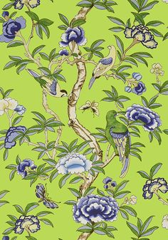 GISELLE, Green, T14225, Collection Imperial Garden from Thibaut