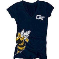 Georgia Tech Yellow Jackets Women's Navy Cossett Mascot Deep V-Neck Tee   21.99 http://amzn.to/A5ZGDg