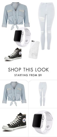 """Untitled #65"" by nohemylane ❤ liked on Polyvore featuring River Island, Topshop, Converse and Apple"