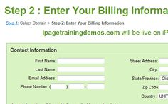 s2-billing-info Simple Website, Training Videos, Names, The Unit, Easy