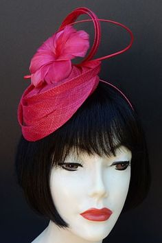 For the Kentucky Derby or Oaks Race...Fuchsia Pink Fascinator by HAT-A-TUDE.com