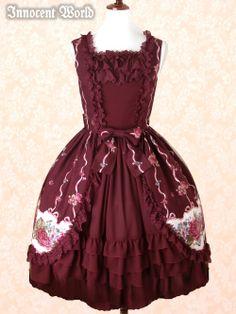 Innocent World - JSK - Bertille Rose Dress JSK /// ¥29,190 /// Bust:  86-105 Waist:  63-77 Length:  100