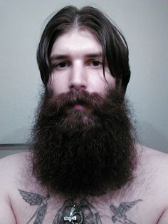 ah fuck, look at this thing! :D huge full thick beautiful dark beard and mustache bushy epic level bearding beards bearded man men natural length tattoos tattooed handsome #beardsforever