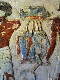 Painting of fish offerings from the Tomb of Benia. The tomb of Benia TT343, supervisor of construction work, is situated at the foot of the south-eastern hills of Sheikh Abd el-Qurna, in midst of further tombs of the 18th and 19th dynasty. Dating the tomb precisely is a difficult task and is still debated, because there are no names of rulers mentioned anywhere in the tomb.
