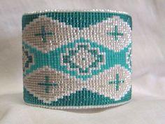 Desert Sage Bead Art: ....Turquoise-Whites