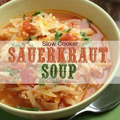 Sauerkraut Crock, Sauerkraut Soup Recipe, Fermented Sauerkraut, Slow Cooker Kitchen, Slow Cooker Soup, Slow Cooker Recipes, Crockpot Meals, Pork Soup, Crock Pot Soup