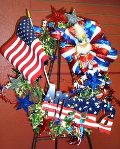 4th of July #Wreath, #4thofjulywreath, #4thofjuly, #4thofjulydecoratiions, #america, #americanflag