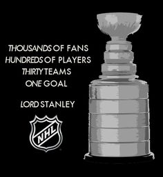on my bucket list I have one thing it's to win the stanley cup because that will be my biggest acomplishment.