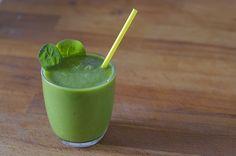 Green Smoothie con calcio y hierro, de espinaca, brócoli y frutas