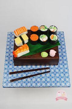 Gorgeous Cakes, Pretty Cakes, Cute Cakes, Amazing Cakes, Sushi Cake, Sushi Cupcakes, Realistic Cakes, My Birthday Cake, 13th Birthday