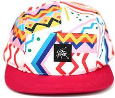 Pink Fresh Prince 80s 90s Style Flat Bill 5 Panel Strap Back Baseball Hat Cap | eBay