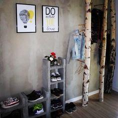 Billedresultat for diy skoreol Diy Shoe Rack, Build Your Dream Home, Trends, Ladder Decor, Entryway, Shabby, New Homes, Inspiration, Furniture
