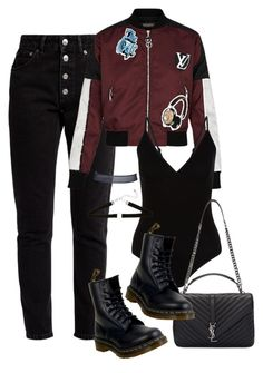 """""""Sans titre #3129"""" by christina95styles ❤ liked on Polyvore featuring Balenciaga, Dr. Martens, New Look and Yves Saint Laurent"""