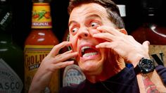#goodfood Watch Steve-O Take on the Hot Ones Challenge #foodie