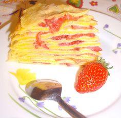 milhojas de frisuelo y fresas