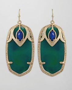 Darby Peacock Earrings
