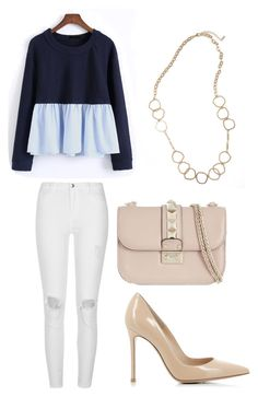 """""""Glam Street Style"""" by jasmine-michelle-2 on Polyvore featuring WithChic, River Island, Gianvito Rossi, Valentino and Panacea"""