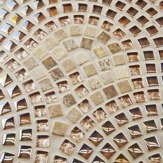 "EliteTile Sierra 0.625"" x 0.625"" Glass, Natural Stone and Metal Mosaic Tile in Toffee & Reviews | Wayfair"