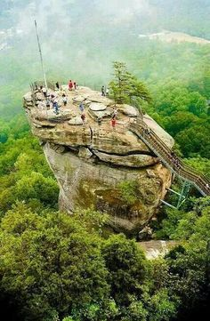 Chimney Rock, North Carolina one of the things on my bucket list im proud to say ive done!! amazing!!