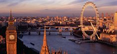 A view of London with Thames river and the Big Ben