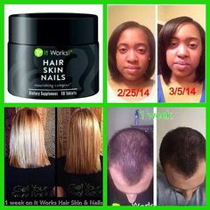 Wow! Always getting awesome results from It Works Hair Skin & Nails Get a 30 day supply for $33 as a loyal customer Call or text 520-840-8770 http://bodycontouringwrapsonline.com/hair-skinnails