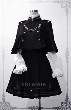 Yolanda Uniform Style Velvet Lolita Outfit with Cape