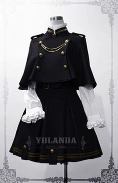 Yolanda Uniform Style Velvet Lolita Outfit with Cape $94.99 - Lolita Jumpers- Lolita Dresses - My Lolita Dress