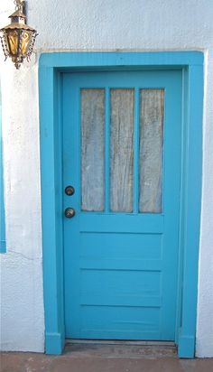 If you ask anyone around Taos why there are so many doors painted blue, they may say it's to keep out evil spirits as a protection device...