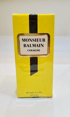 Rare Old Formula NOS / NIB Vintage Monsieur Balmain Men's Cologne, Vintage Cologne, Vintage Perfume, Vintage Balmain Perfume Balmain Perfume, Men's Cologne, Balmain Men, Vintage Perfume, Sephora, How To Memorize Things, Fragrance, Etsy, Beauty