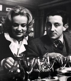 """Jeanne Moreau et Louis Malle sur le tournage de """"Les Amants"""" en 1958"""