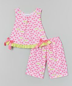 Another great find on #zulily! Pink Fishies Swing Top & Capri Pants - Infant, Toddler & Girls #zulilyfinds