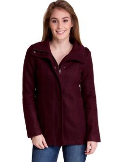 Zippered Shoulder Detail Winter Jacket J30518BG, clothing, clothes, womens clothing, jeans, tops, womens dress