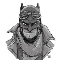 Can he just rock the trench coat for the whole film? #batman #batmanvsuperman #sketch